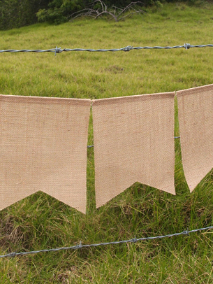 COMING SOON! Jute Banner 5 pieces  - 6.5 Feet Long - Vinyl Backed for Painting!