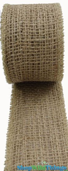 "SALE ! Jute Natural Fabric Roll Natural 1.5""x10yd -  High Quality Open Weave"