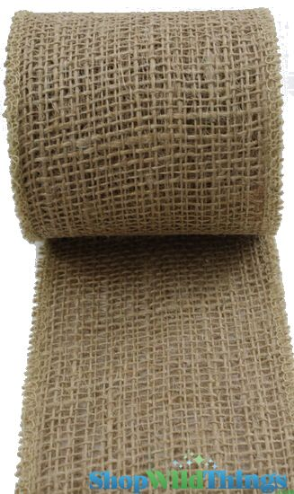 """SALE ! Jute Natural Fabric Roll Natural 2.5""""x10yd - High Quality Open Weave"""