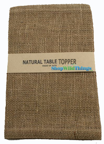 "SALE ! Jute Natural Fabric Topper Natural 60x60""  - High Quality Open Weave"