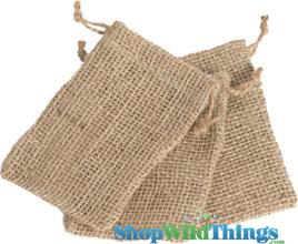 "Jute Pouch 3x4"" (Natural)"