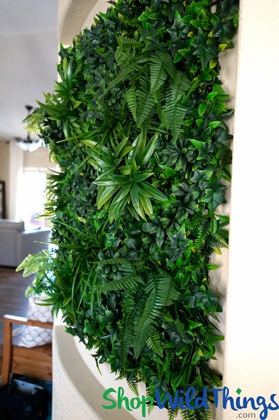 "Assorted Foliage Vertical Landscape Wall Mat - 40"" Square (Indoor/Outdoor UV)"