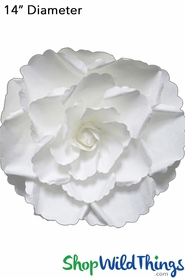 "Paper Rose Gardenia 14"" Off-White - Make Flower Walls!"
