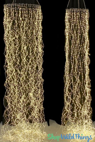 "Hanging LED Column 7200 Fairy Lights 10 Feet Long x 20"", 60 Strands"