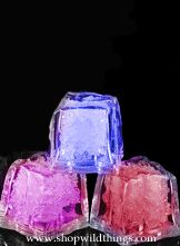 LED Ice Cube LiteCubes- MultiColor Rainbow  - 8 Functions - Flashing or Steady - Waterproof