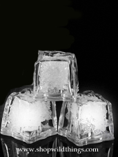 LED Ice Cube LiteCubes - White Light - Flashing or Steady - Waterproof, Freezable