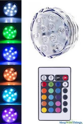 Large Submersible Color Changing Light Discs W Remote