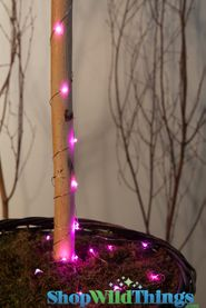 "LED Light Strand PINK - Waterproof - 72"" Long - Battery Operated - 19 Lights"