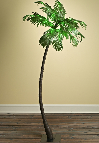 "LED Palm Tree 5' Tall, Green, ""Tropical Party Tree"" Indoor/Outdoor"