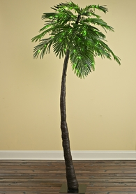"LED Palm Tree 7' Tall, Green, ""Tropical Party Tree"" Indoor/Outdoor"