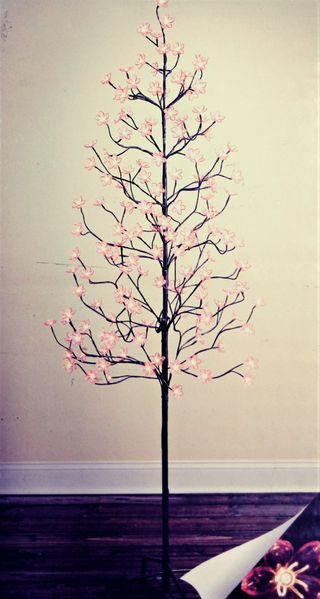 SALE! LED Tree - 6.5' Tall - 160 Pink Flower Blossom Tree - Warm White Lights - Indoor/Outdoor