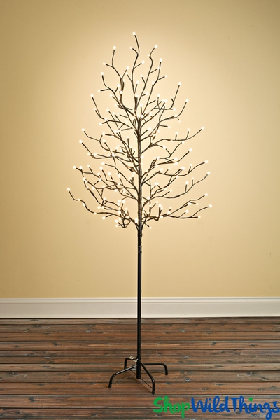 LED Tree, 6' Tall, 204 Warm White LED Globes - Indoor/Outdoor