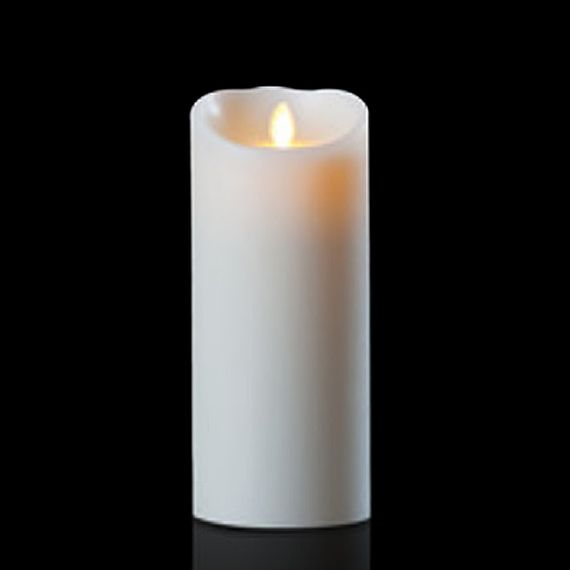 COMING SOON! Luminara Wax Candle - Ivory 4 x 9 - With Timer - Remote Ready - Amazing Flame!