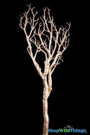 "Manzanita Glitter Tree Branch - Gold - 28"" Long"