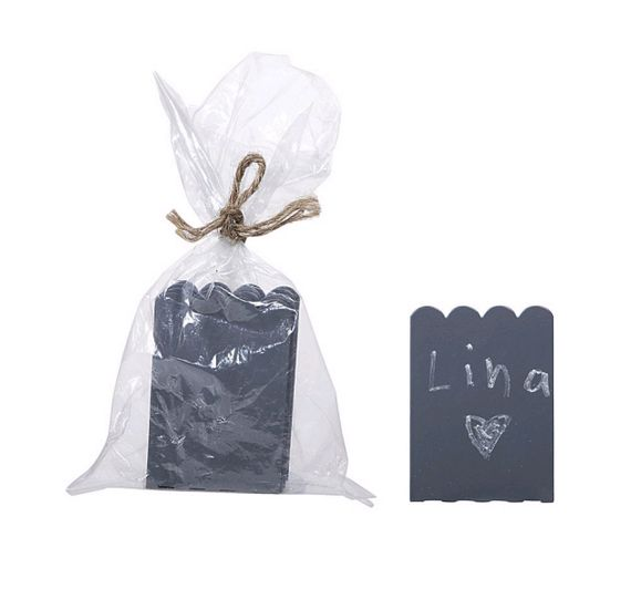 SALE ! Metal Mini Chalkboard Stand for Place Cards or Food Display - 8 Per Set