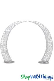 "(FREE SHIPPING!) Half Moon Arch | Round Circle Floral Wedding Arch ""Firenze"" - 8'3""H x 10'3""W"