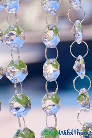 """Millenium"" 30 Foot Long - Diamond Garland - Hand Strung - Crystal Clear"