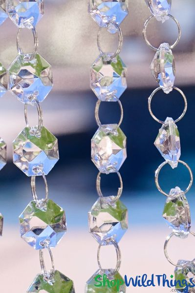 "COMING SOON! ""Millenium"" 30 Foot Long - Diamond Garland - Hand Strung - Crystal Clear"