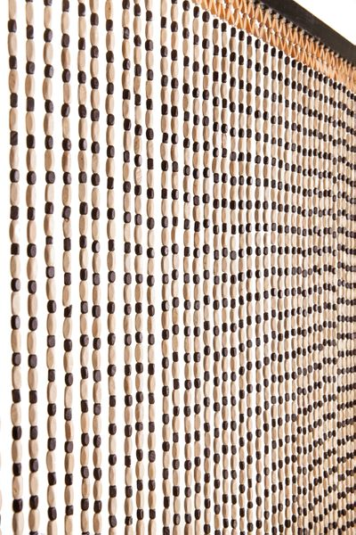 """COMING SOON! Multi Wooden Bead Curtain - Kingston - 35.5"""" x 78"""" - 49 Strands"""