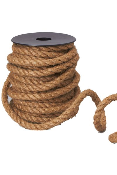 "Natural Rope Roll 33' Long by 3/8"" Thick (8mm)"