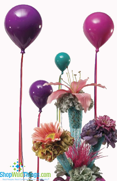 Never-Deflate Party Balloons : Ornaments for Displays