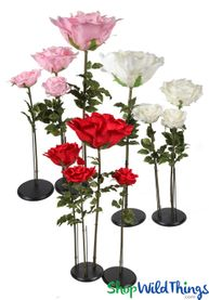 Giant Flowers: Standing, Backdrop, Tabletop & Ceiling