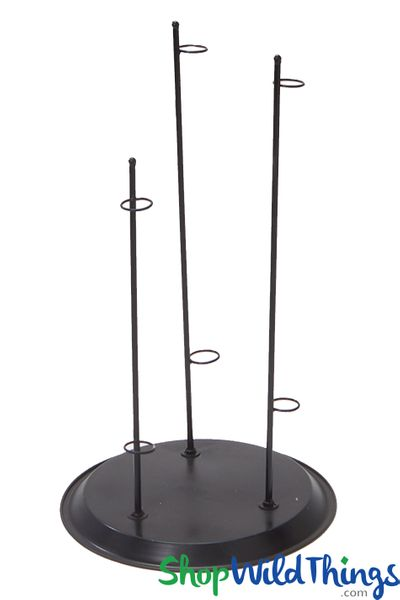 Oversized Rose Holder Flower Stand - 3 Supports - Black