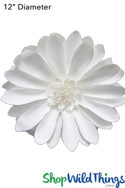 "Paper Flower Daisy 12"" Off-White - Make Flower Walls!"