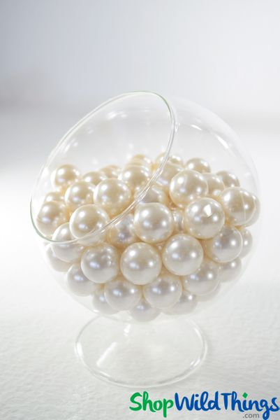 Pearls 20mm Ivory - 1lb Bag (approx 110pcs) = 3 Cups (No Hole) - BUY MORE, SAVE MORE!