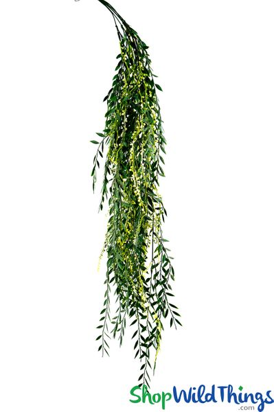 Pepper Berry Vine - Green w/Ivory Berries Spray 40""