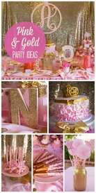 Pink & Gold Party Ideas|Bling on a Budget