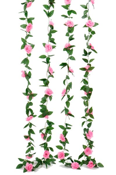 Flower Garland - Silk Rose - 8' - Pink