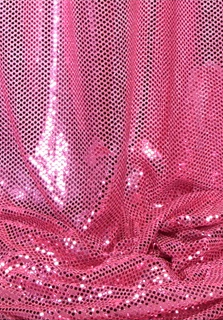 """Ritzy Round"" Spangles - Pink - Fabric 44"" x 5 yards"