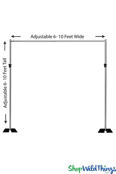 (FREE SHIPPING!) Pipe & Drape Backdrop Hardware Kit - Professional Grade - 6'-10' Tall x 6'-10' Wide