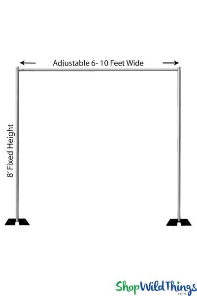 (FREE SHIPPING!) Pipe & Drape Backdrop Hardware Kit - Professional Grade - 8' Tall x 6'-10' Wide