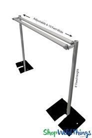 (FREE SHIPPING!) Pipe & Drape Backdrop Hardware Kit Professional Series - 8' Tall x 6'-10' Wide 2 Tier Backdrop