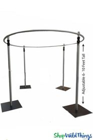 "(FREE SHIPPING!) Wedding & Event Canopy Professional Series Hardware Kit - (2"" Pipe) 6'-10' Tall by 10' Diameter Round Chuppah"