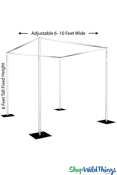 Wedding & Event Canopy Professional Series Hardware Kit - 8' Tall by 6'-10' Wide