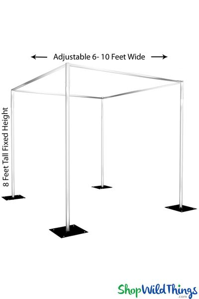 (FREE SHIPPING!) Wedding & Event Canopy Professional Series Hardware Kit - 8' Tall by 6'-10' Wide