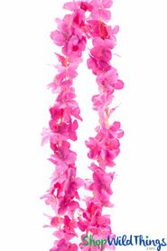 "Plumeria Frangipani Silk Flower Garland - Fuchsia - 80"" Long Expandable! BUY MORE, SAVE MORE!"