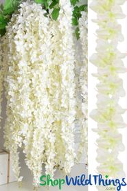 "Plumeria Garland ""Wanika"" Extra-Full 74"" - Off-White"