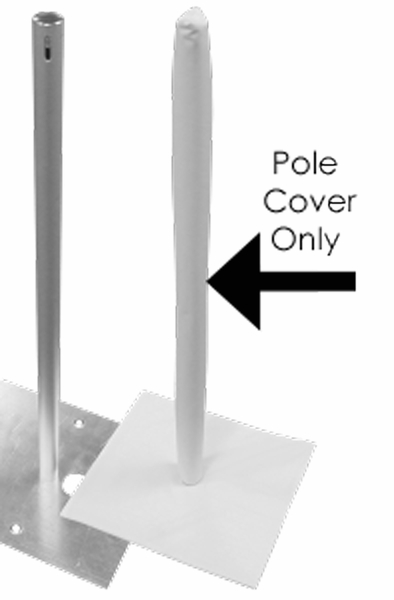 Coming Soon! Pole Cover 14' White