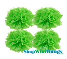 "CLEARANCE! Pom Poms 20"" Tissue Paper  - Light Lime - Set of 4"