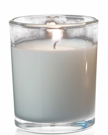 "Poured Glass Votive Candles 2x2.5"" 12 pcs - Burn Time 12-13 Hours - Unscented White"