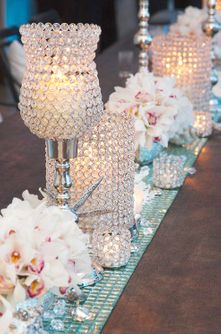"""Prestige Collection"" Real Crystal Beaded Decor"