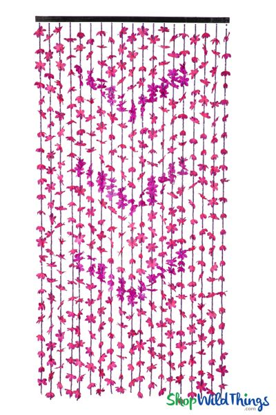 """FabuLush Fabric Flowers�"" Curtain - 2-Tone Purple - 35"" x 69"""