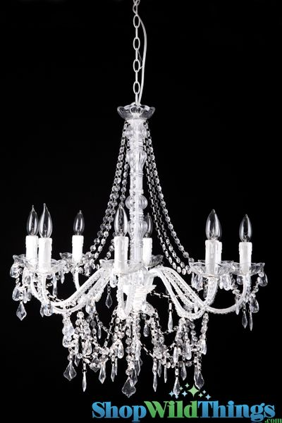 "Chandelier Queen Elaine - Crystal - 26"" x 28"" x 25"" - 8 Lights!"