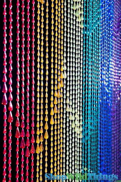 Free Shipping Multi Color Door Window Panels String: Pride Beaded Curtains, Rainbows Curtains, Rainbow
