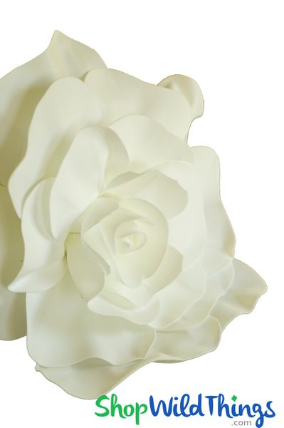 "Real Feel 20"" X-Large Ivory Foam Rose - Make Flower Walls!"