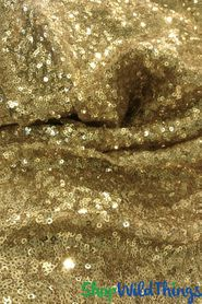 Real Sequins Fabric Table Overlay or Backdrop - Gold - 7.5ft  x 13ft
